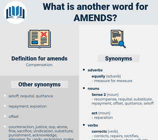amends, synonym amends, another word for amends, words like amends, thesaurus amends