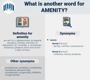 amenity, synonym amenity, another word for amenity, words like amenity, thesaurus amenity