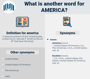 america, synonym america, another word for america, words like america, thesaurus america