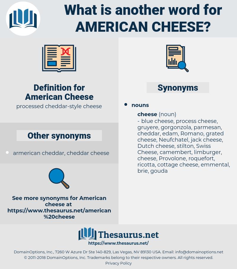 American Cheese, synonym American Cheese, another word for American Cheese, words like American Cheese, thesaurus American Cheese