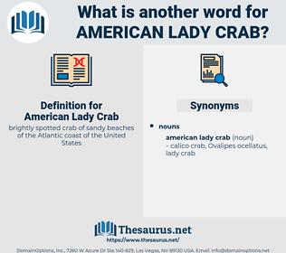 American Lady Crab, synonym American Lady Crab, another word for American Lady Crab, words like American Lady Crab, thesaurus American Lady Crab