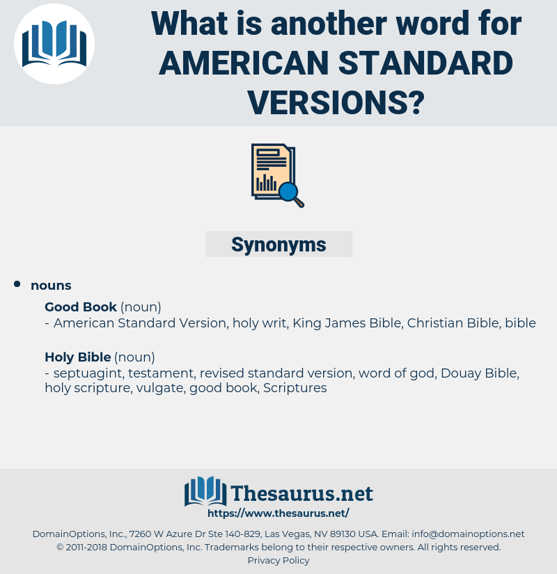 american standard versions, synonym american standard versions, another word for american standard versions, words like american standard versions, thesaurus american standard versions