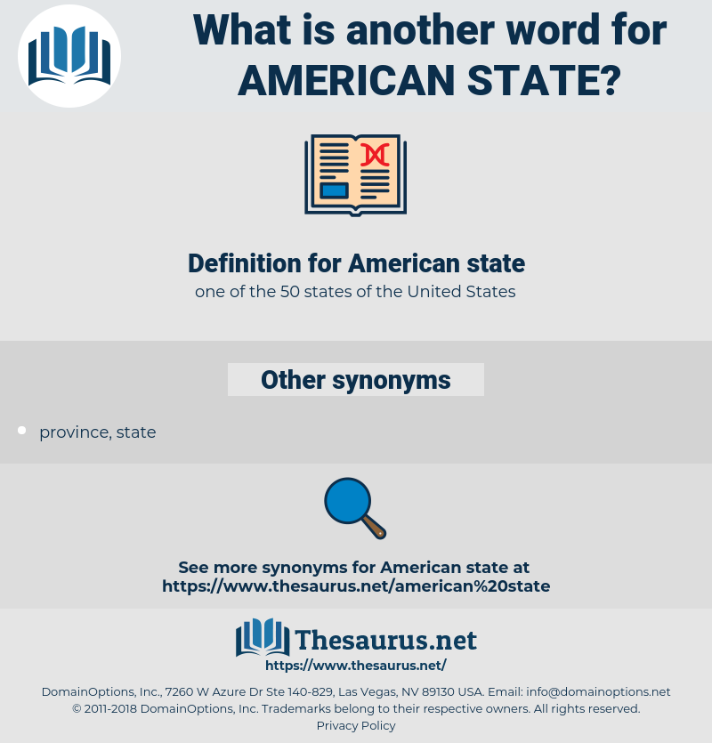 American state, synonym American state, another word for American state, words like American state, thesaurus American state