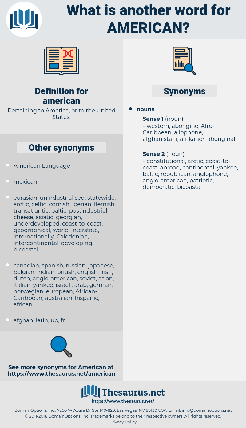 american, synonym american, another word for american, words like american, thesaurus american