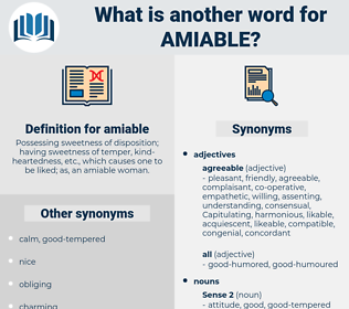 amiable, synonym amiable, another word for amiable, words like amiable, thesaurus amiable