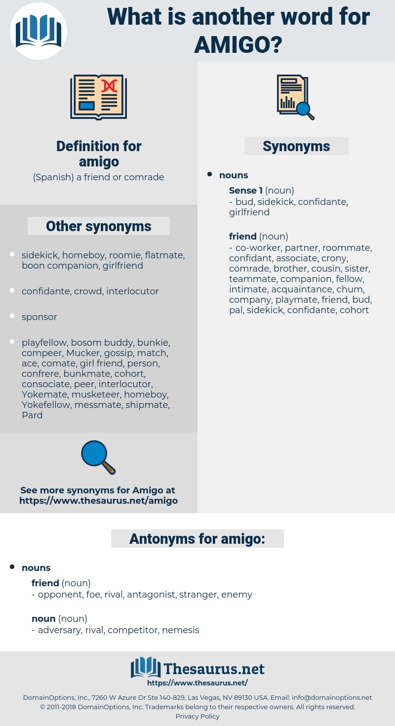 amigo, synonym amigo, another word for amigo, words like amigo, thesaurus amigo