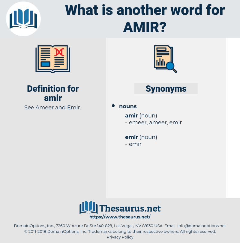 amir, synonym amir, another word for amir, words like amir, thesaurus amir