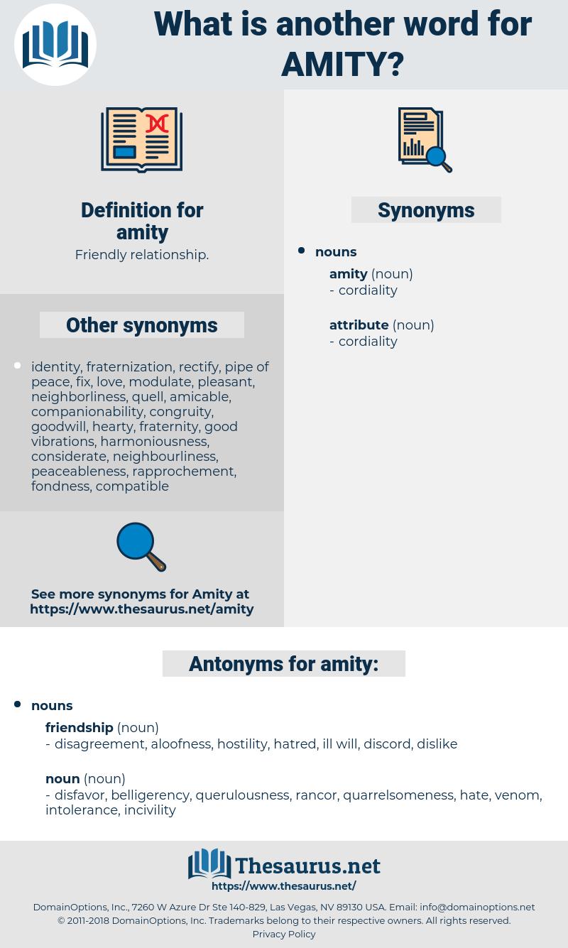 amity, synonym amity, another word for amity, words like amity, thesaurus amity