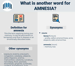 amnesia, synonym amnesia, another word for amnesia, words like amnesia, thesaurus amnesia