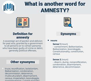 amnesty, synonym amnesty, another word for amnesty, words like amnesty, thesaurus amnesty