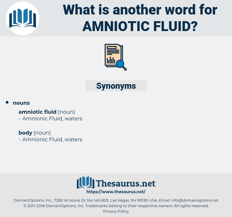 Synonyms for AMNIOTIC FLUID - Thesaurus net