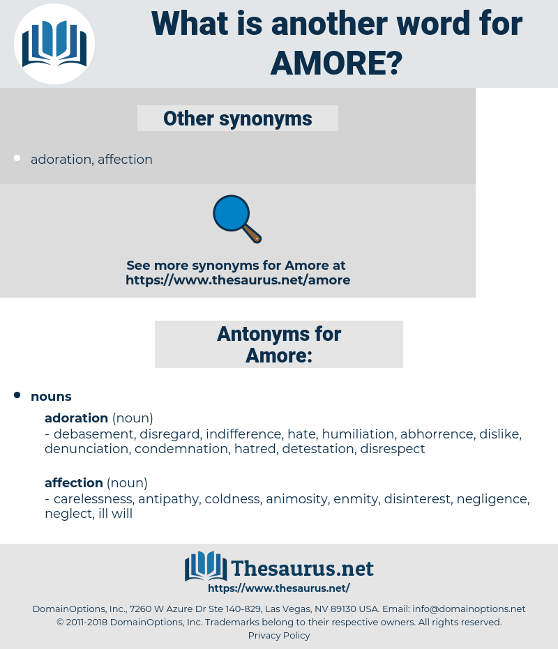 Amore, synonym Amore, another word for Amore, words like Amore, thesaurus Amore