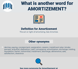 Amortizement, synonym Amortizement, another word for Amortizement, words like Amortizement, thesaurus Amortizement