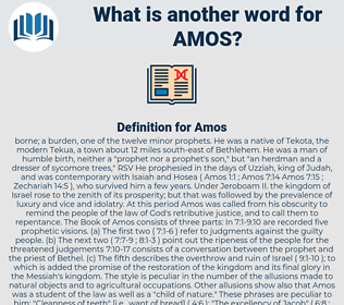 Amos, synonym Amos, another word for Amos, words like Amos, thesaurus Amos