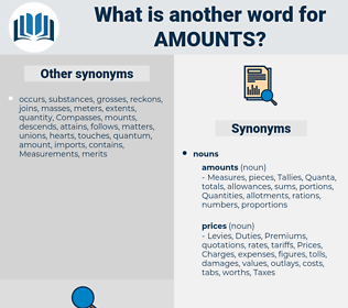amounts, synonym amounts, another word for amounts, words like amounts, thesaurus amounts