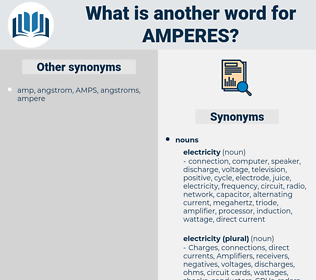 amperes, synonym amperes, another word for amperes, words like amperes, thesaurus amperes