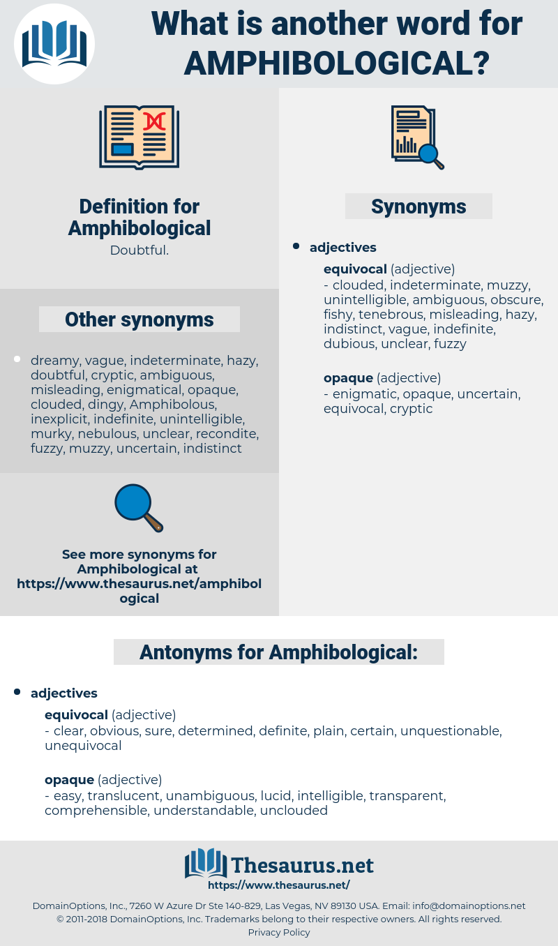 Amphibological, synonym Amphibological, another word for Amphibological, words like Amphibological, thesaurus Amphibological