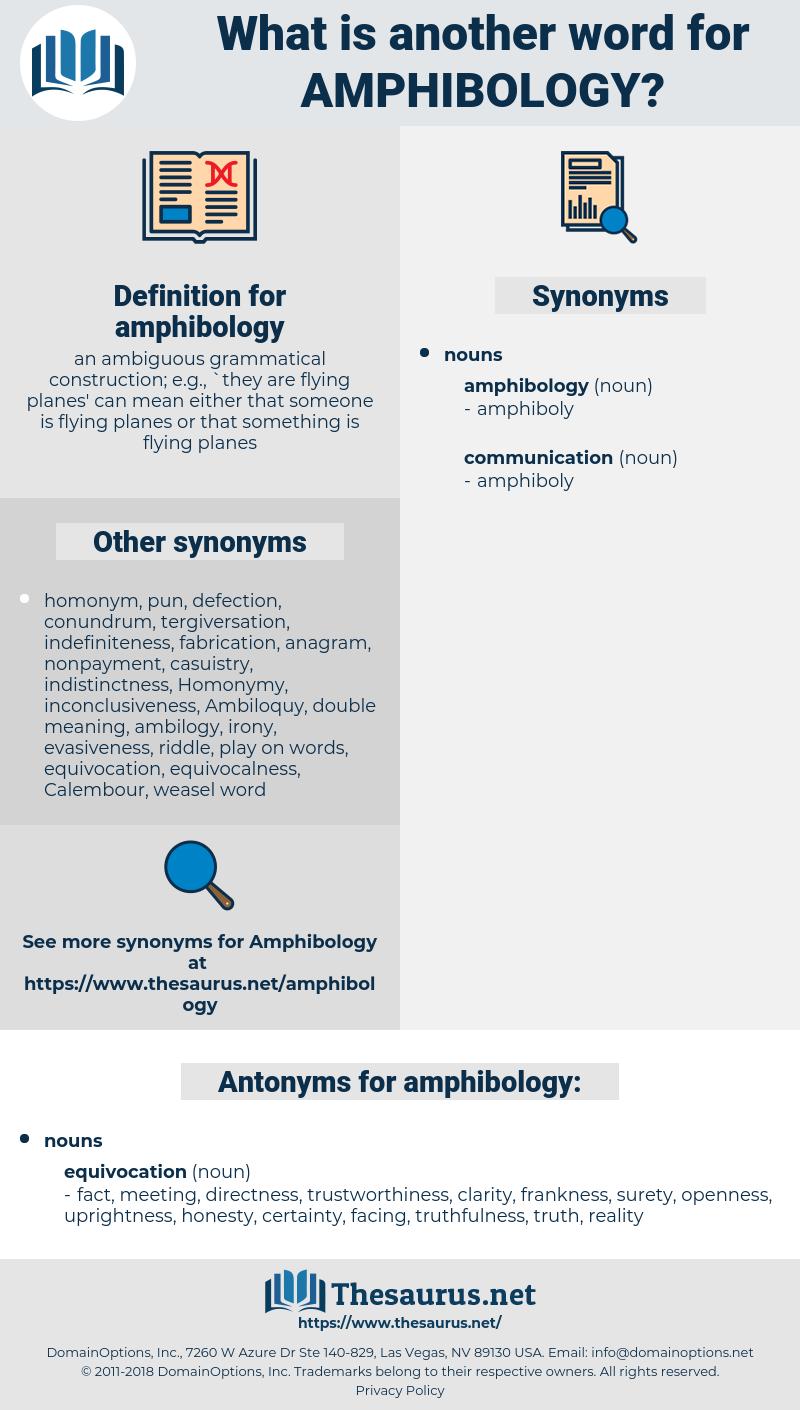 amphibology, synonym amphibology, another word for amphibology, words like amphibology, thesaurus amphibology