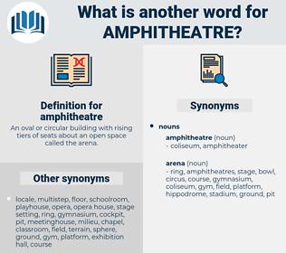 amphitheatre, synonym amphitheatre, another word for amphitheatre, words like amphitheatre, thesaurus amphitheatre