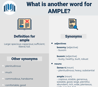 ample, synonym ample, another word for ample, words like ample, thesaurus ample