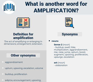 amplification, synonym amplification, another word for amplification, words like amplification, thesaurus amplification