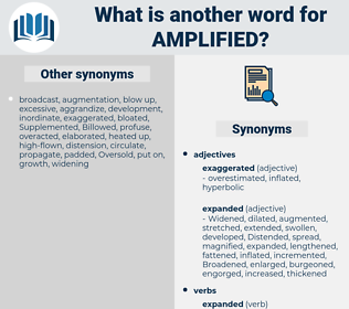 Amplified, synonym Amplified, another word for Amplified, words like Amplified, thesaurus Amplified