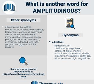 amplitudinous, synonym amplitudinous, another word for amplitudinous, words like amplitudinous, thesaurus amplitudinous