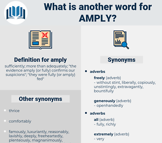 amply, synonym amply, another word for amply, words like amply, thesaurus amply