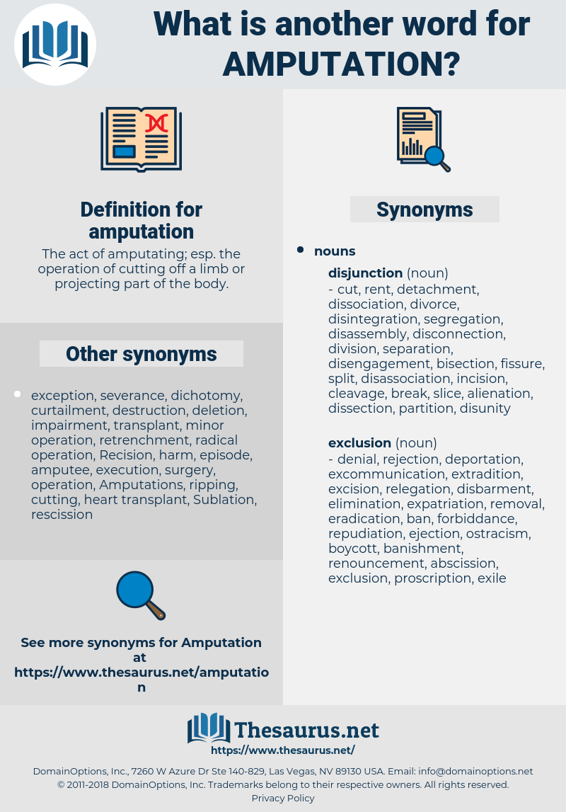 amputation, synonym amputation, another word for amputation, words like amputation, thesaurus amputation
