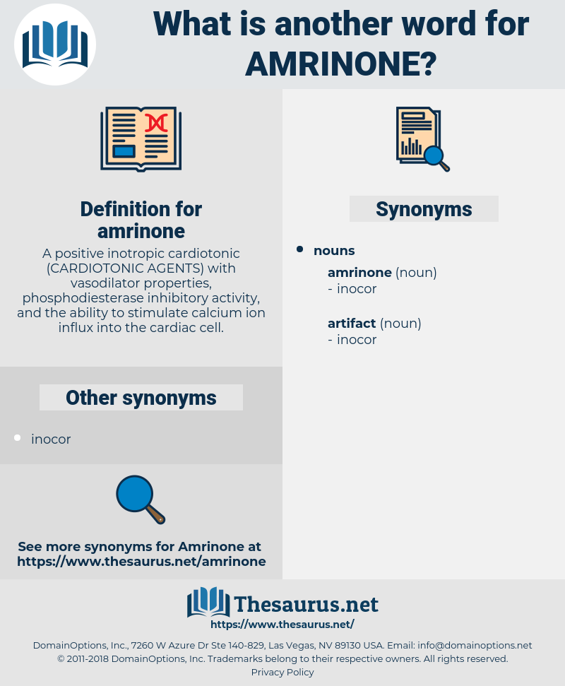 amrinone, synonym amrinone, another word for amrinone, words like amrinone, thesaurus amrinone