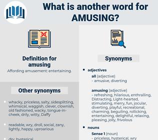 amusing, synonym amusing, another word for amusing, words like amusing, thesaurus amusing