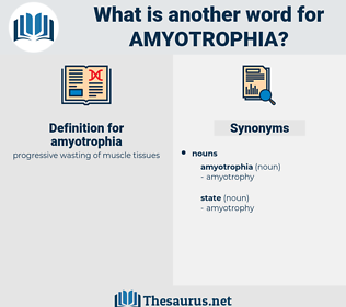 amyotrophia, synonym amyotrophia, another word for amyotrophia, words like amyotrophia, thesaurus amyotrophia