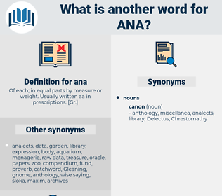 ana, synonym ana, another word for ana, words like ana, thesaurus ana