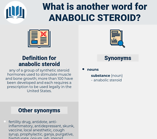 anabolic steroid, synonym anabolic steroid, another word for anabolic steroid, words like anabolic steroid, thesaurus anabolic steroid