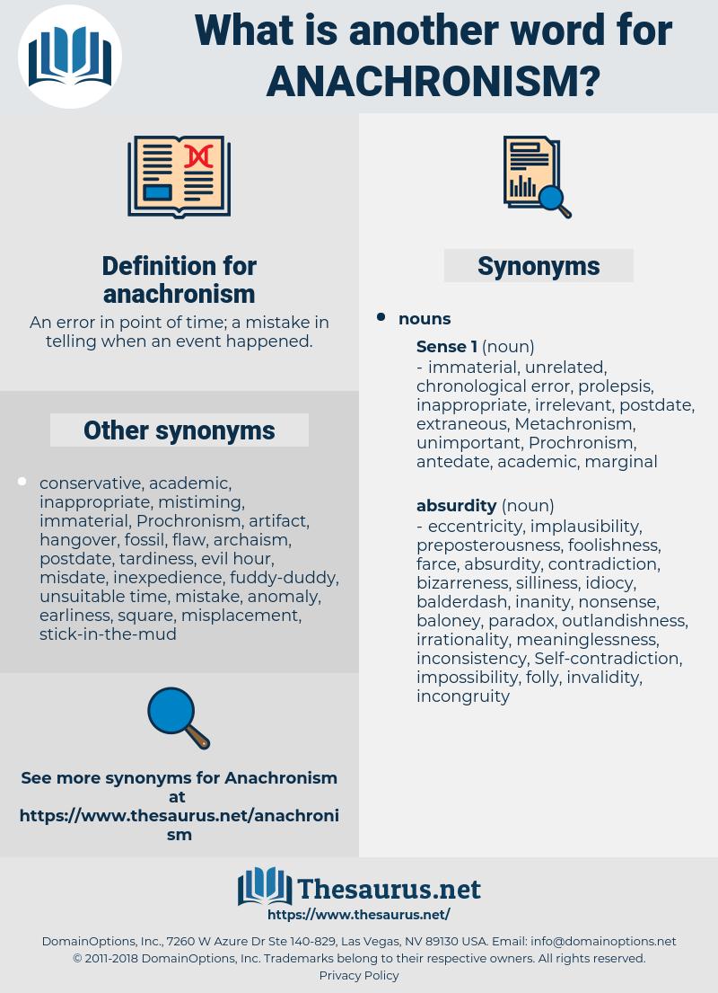 anachronism, synonym anachronism, another word for anachronism, words like anachronism, thesaurus anachronism