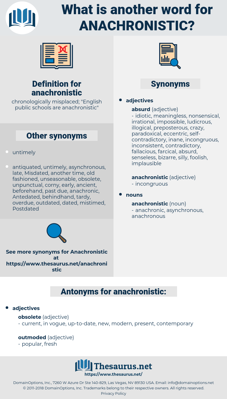 anachronistic, synonym anachronistic, another word for anachronistic, words like anachronistic, thesaurus anachronistic