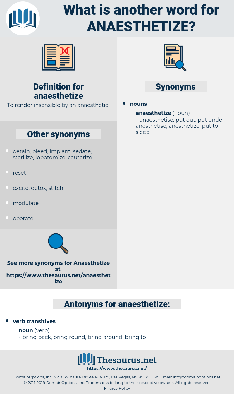 anaesthetize, synonym anaesthetize, another word for anaesthetize, words like anaesthetize, thesaurus anaesthetize