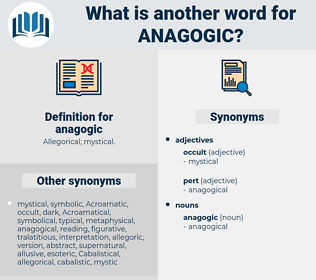 anagogic, synonym anagogic, another word for anagogic, words like anagogic, thesaurus anagogic