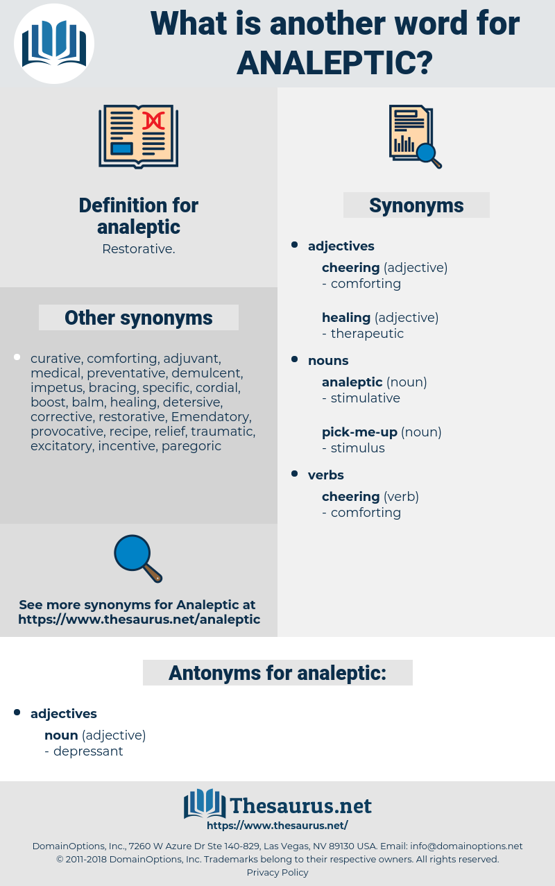 analeptic, synonym analeptic, another word for analeptic, words like analeptic, thesaurus analeptic