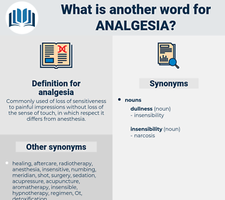 analgesia, synonym analgesia, another word for analgesia, words like analgesia, thesaurus analgesia