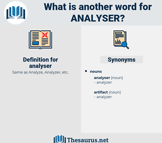 analyser, synonym analyser, another word for analyser, words like analyser, thesaurus analyser