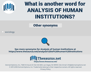 analysis of human institutions, synonym analysis of human institutions, another word for analysis of human institutions, words like analysis of human institutions, thesaurus analysis of human institutions