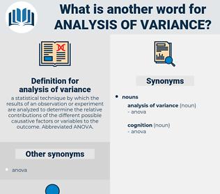 analysis of variance, synonym analysis of variance, another word for analysis of variance, words like analysis of variance, thesaurus analysis of variance