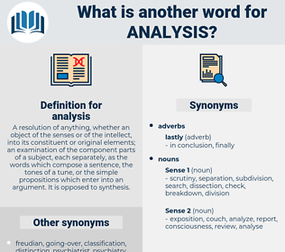 analysis, synonym analysis, another word for analysis, words like analysis, thesaurus analysis
