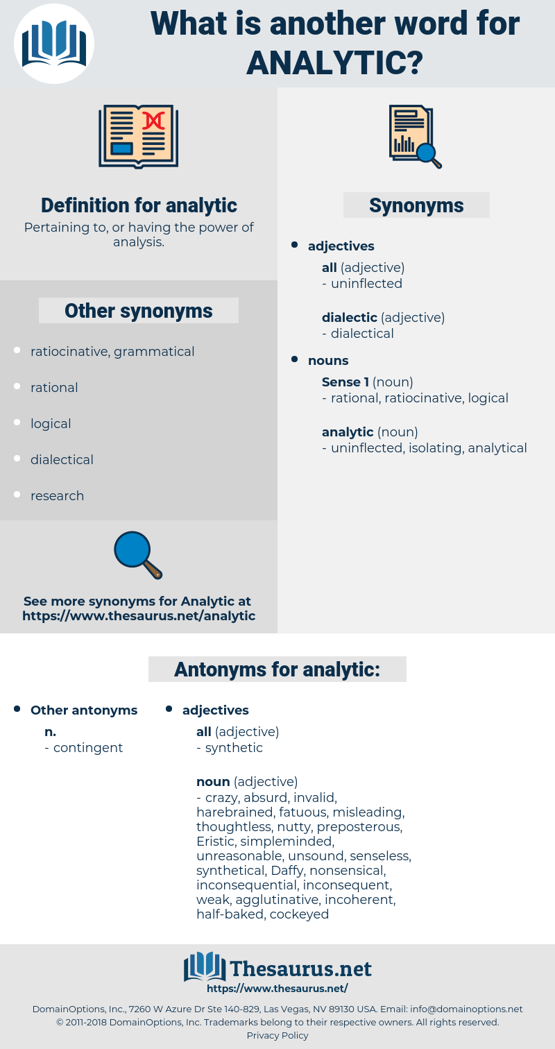 analytic, synonym analytic, another word for analytic, words like analytic, thesaurus analytic