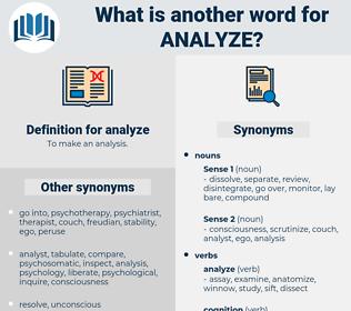 analyze, synonym analyze, another word for analyze, words like analyze, thesaurus analyze