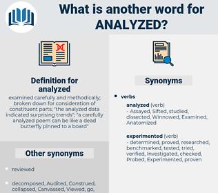analyzed, synonym analyzed, another word for analyzed, words like analyzed, thesaurus analyzed