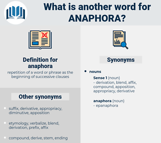 anaphora, synonym anaphora, another word for anaphora, words like anaphora, thesaurus anaphora