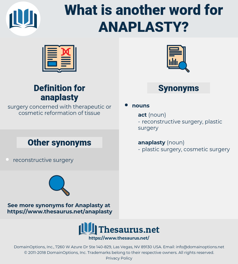 anaplasty, synonym anaplasty, another word for anaplasty, words like anaplasty, thesaurus anaplasty