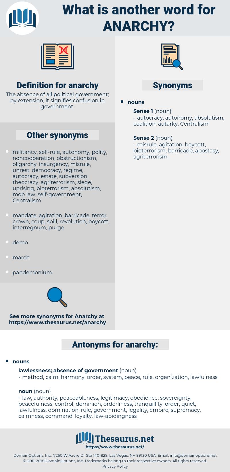 anarchy, synonym anarchy, another word for anarchy, words like anarchy, thesaurus anarchy